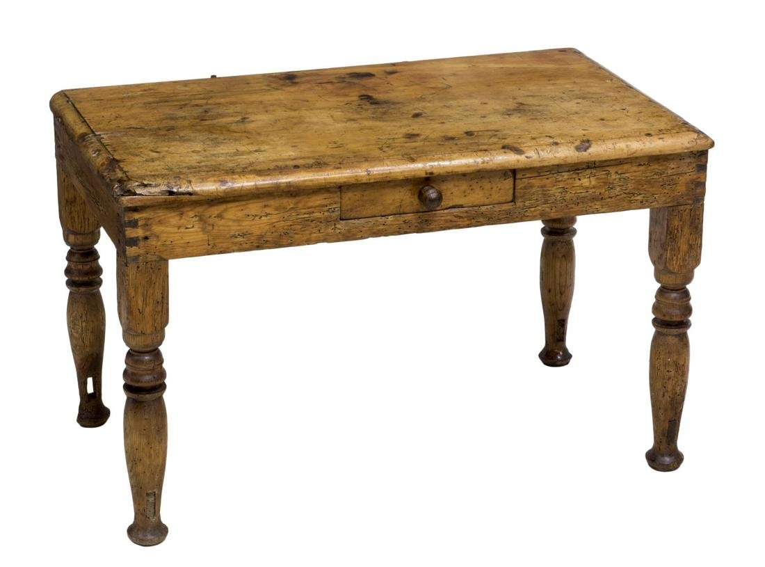 ANTIQUE FRENCH SINGLE DRAWER WORK TABLE 19TH C