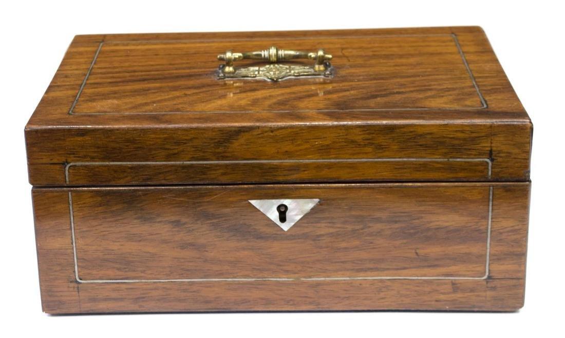VICTORIAN MAHOGANY BOX,1870'S
