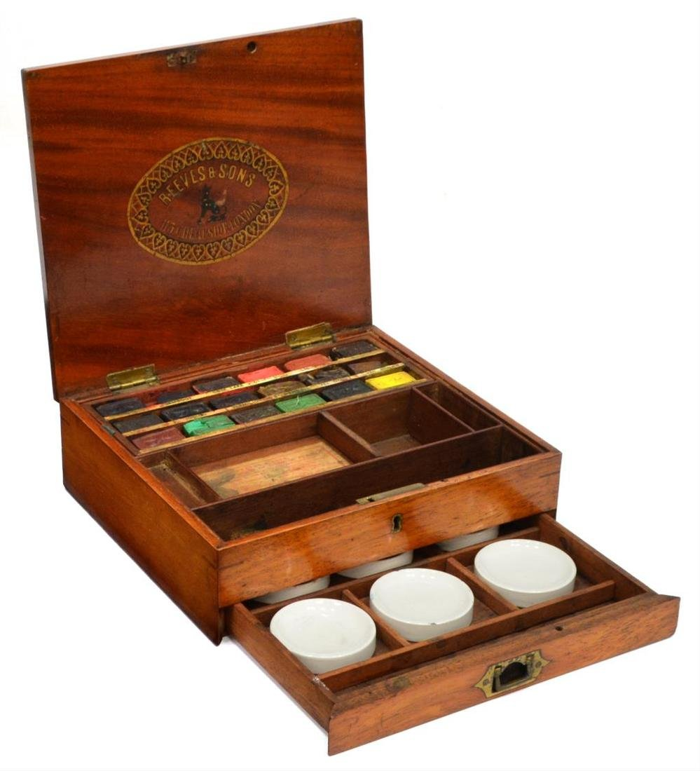 REEVES & SONS LONDON MAHOGANY ARTISTS BOX