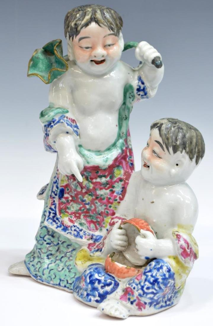 CHINESE FAMILLE ROSE PORCELAIN FIGURAL GROUP - 2