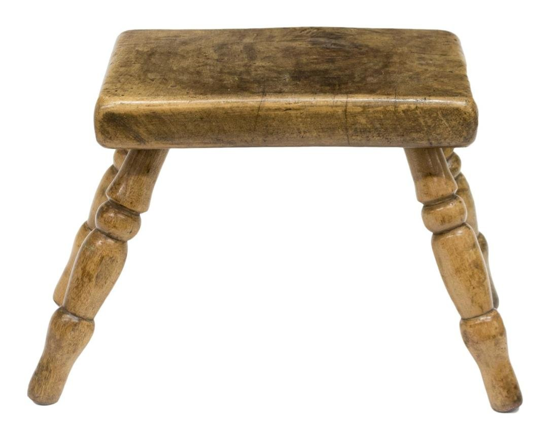 (3) ENGLISH COUNTRY ELM & PINE STOOLS, LATE 19TH C - 4