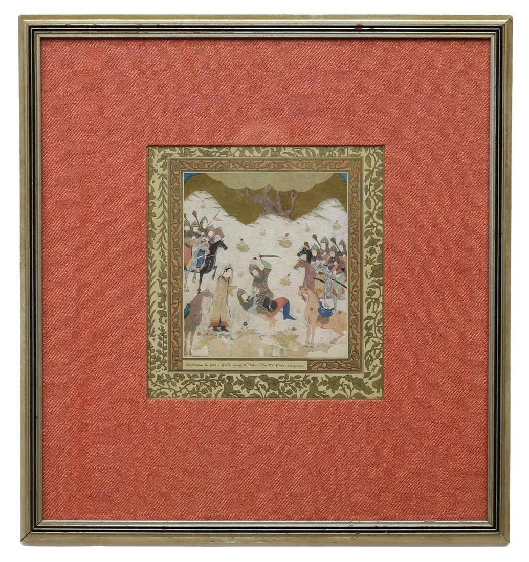 (3) FRAMED COLOR PRINTS, PERSIAN SCENE AND MAPS - 2