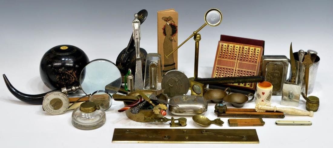 HUGE LOT COLLECTIBLES, DESK ARTICLES & MAGNIFIERS