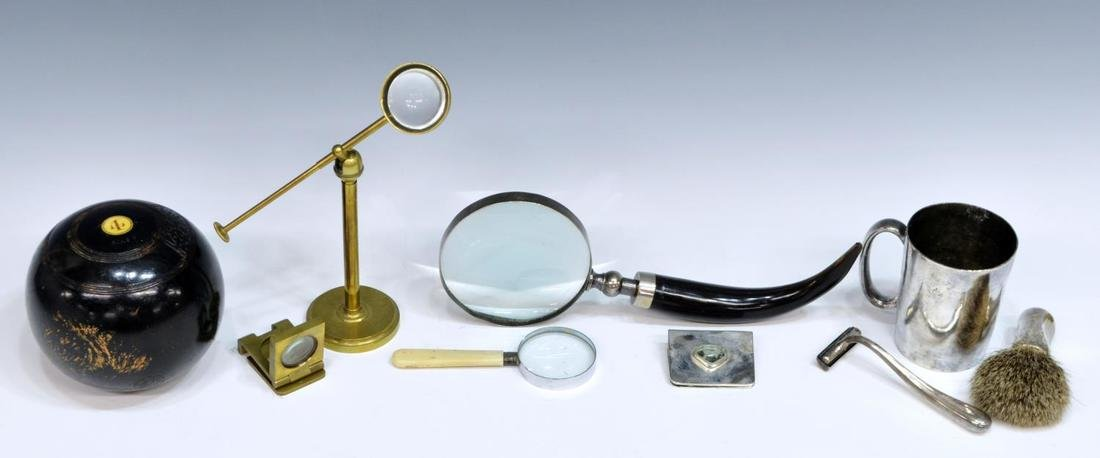 HUGE LOT COLLECTIBLES, DESK ARTICLES & MAGNIFIERS - 3