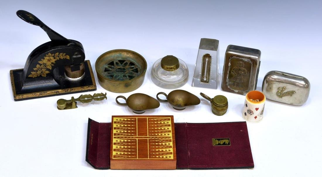 HUGE LOT COLLECTIBLES, DESK ARTICLES & MAGNIFIERS - 4