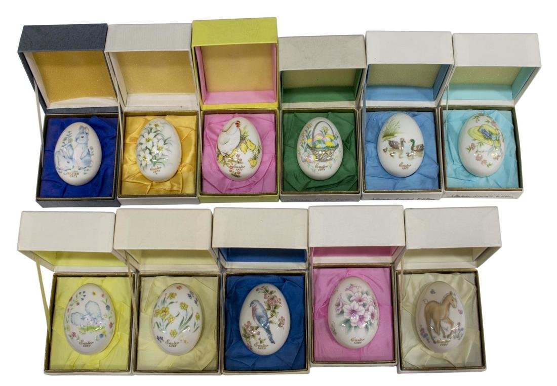 (11)NORITAKE LIMITED EDITION EASTER EGGS 1971-1981