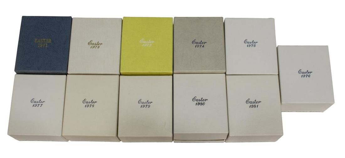 (11)NORITAKE LIMITED EDITION EASTER EGGS 1971-1981 - 2