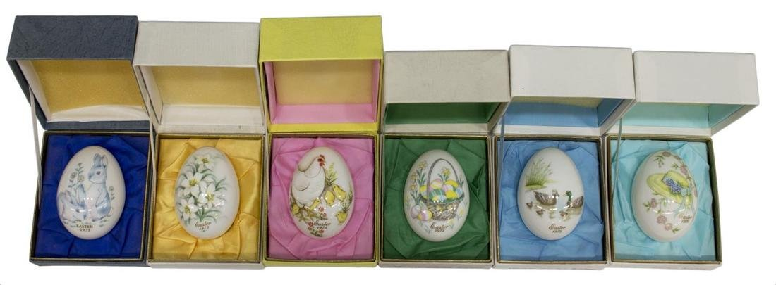 (11)NORITAKE LIMITED EDITION EASTER EGGS 1971-1981 - 3