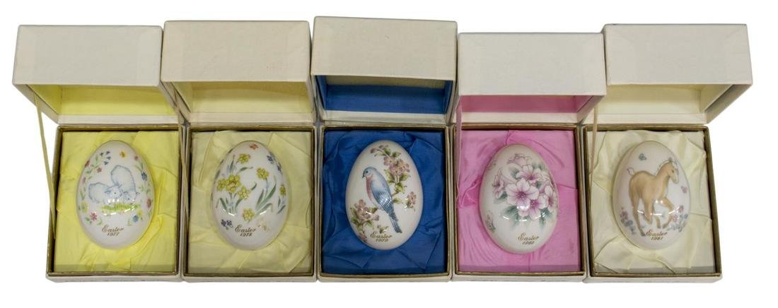 (11)NORITAKE LIMITED EDITION EASTER EGGS 1971-1981 - 4