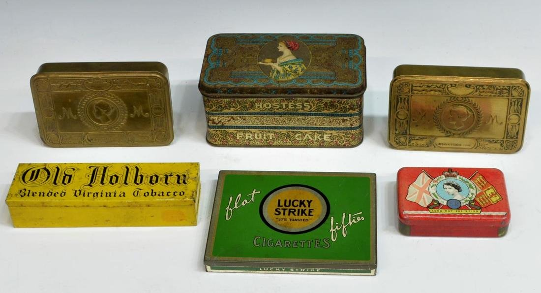 (19) ENGLISH COMMEMORATIVE TINS & SOUVENIRS - 3