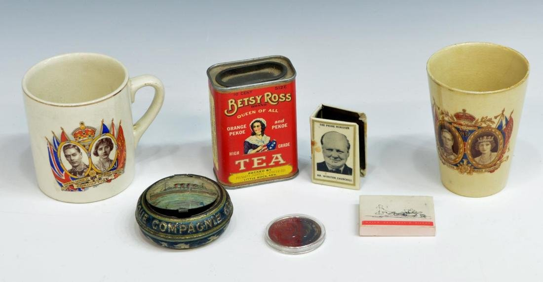 (19) ENGLISH COMMEMORATIVE TINS & SOUVENIRS - 4