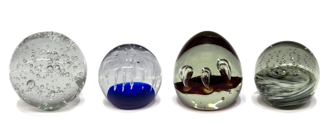 (9) COLLECTION OF ART GLASS PAPERWEIGHTS - 2