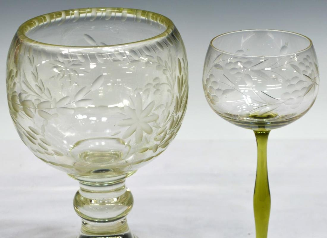 (10) COLLECTION OF ETCHED AND CUT STEMWARE - 5