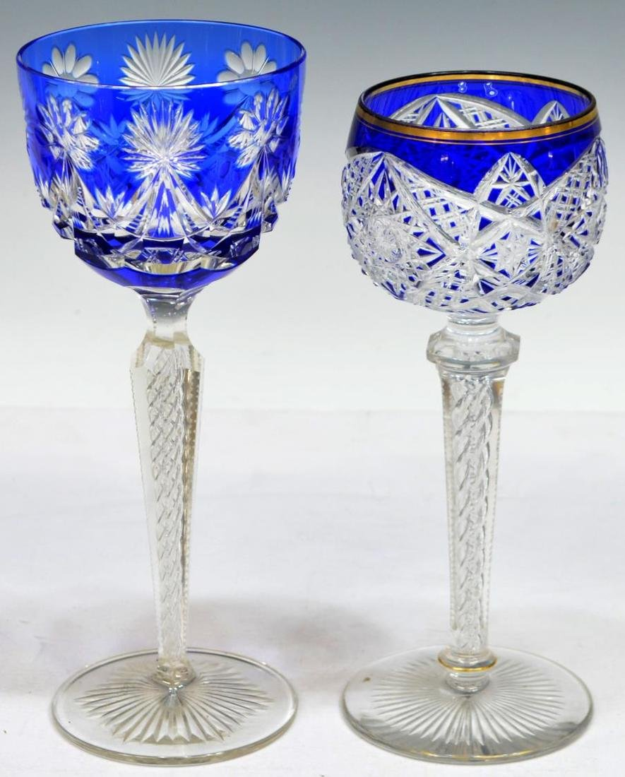 (10) COLLECTION OF ETCHED AND CUT STEMWARE - 6