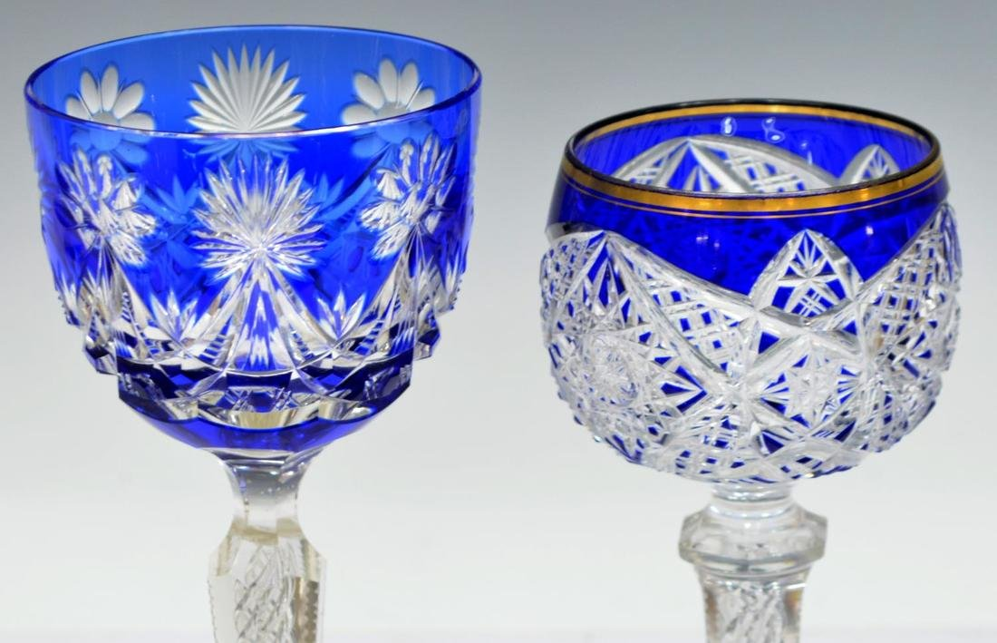 (10) COLLECTION OF ETCHED AND CUT STEMWARE - 7