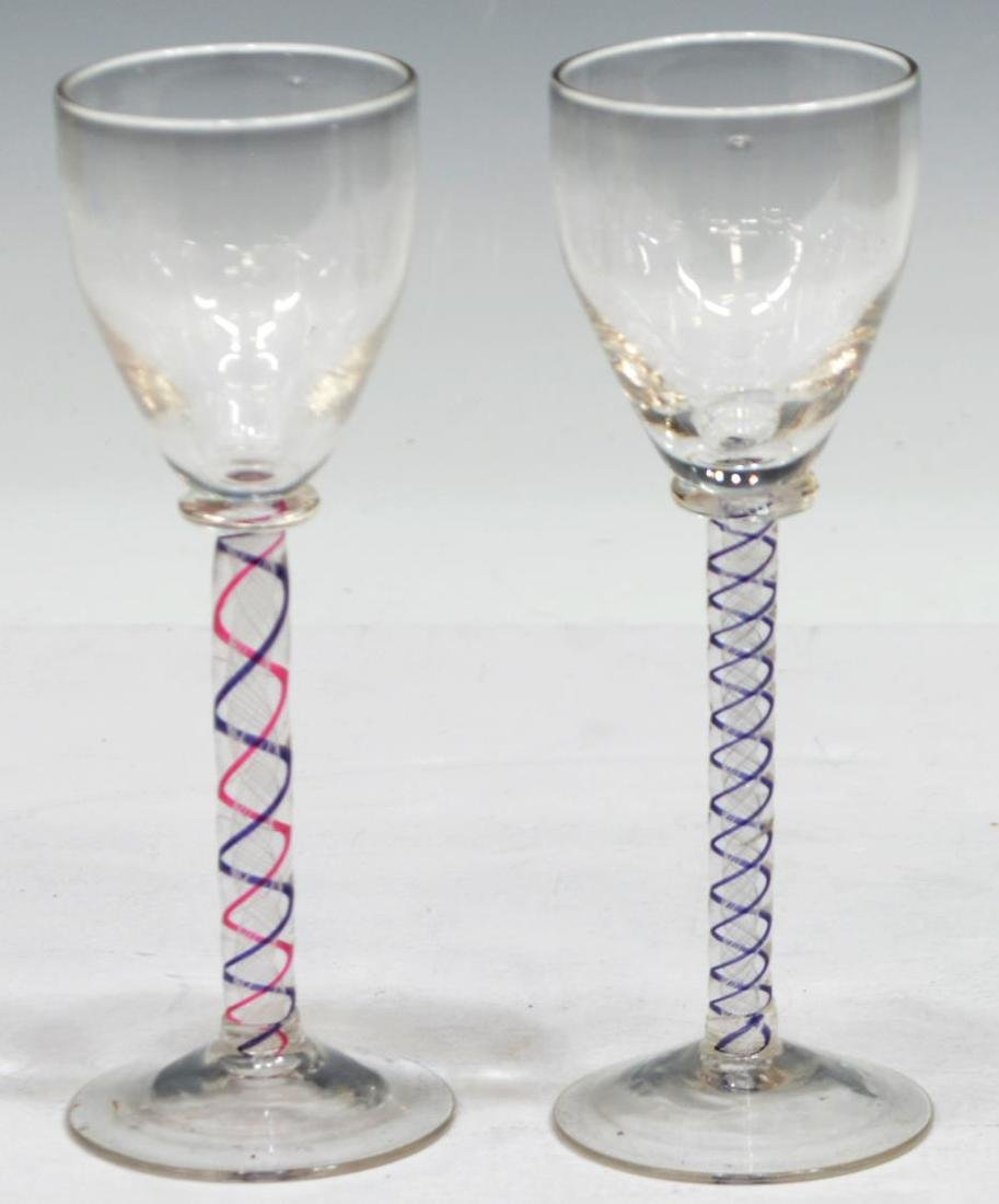 (10) COLLECTION OF ETCHED AND CUT STEMWARE - 8