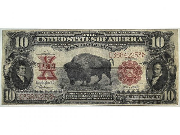 318: U.S. CURRENCY 1901 10 DOLLAR LEGAL TENDER NOTE