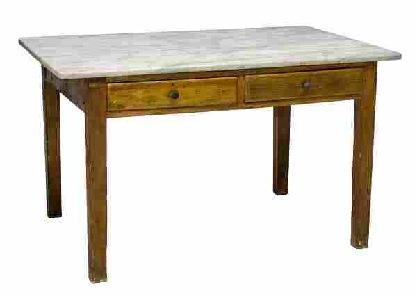 TUSCAN MARBLE TOP KITCHEN WORK TABLE