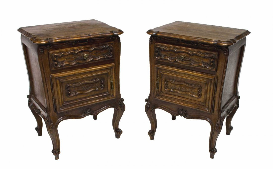 (2) FRENCH LOUIS XV STYLE BEDSIDE CABINETS