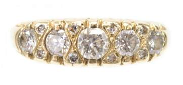 ESTATE 14KT YELLOW GOLD  DIAMOND RING