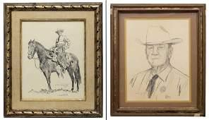 (2) JACK WHITE, THE LONE WOLF TEXAS RANGER, PRINTS