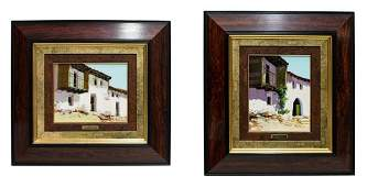 (2)JOSE BARBERA (SPAIN 1948-2005), HOUSE LANDSCAPE