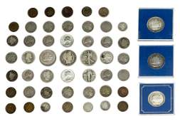 50 US COINS COLUMBIAN INDIAN HEAD BARBER