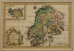 MAP C 1765 SWEDEN  NORWAY VAUGONDY  GIBSON