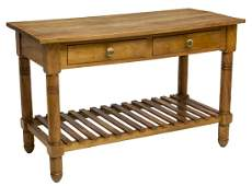 FRENCH CHERRYWOOD WORK TABLE