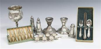24 STERLING SILVER TABLE ARTICLES FRANCIS I ETC