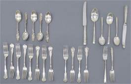 (24) COLLECTION ASSORTED STERLING SILVER FLATWARE