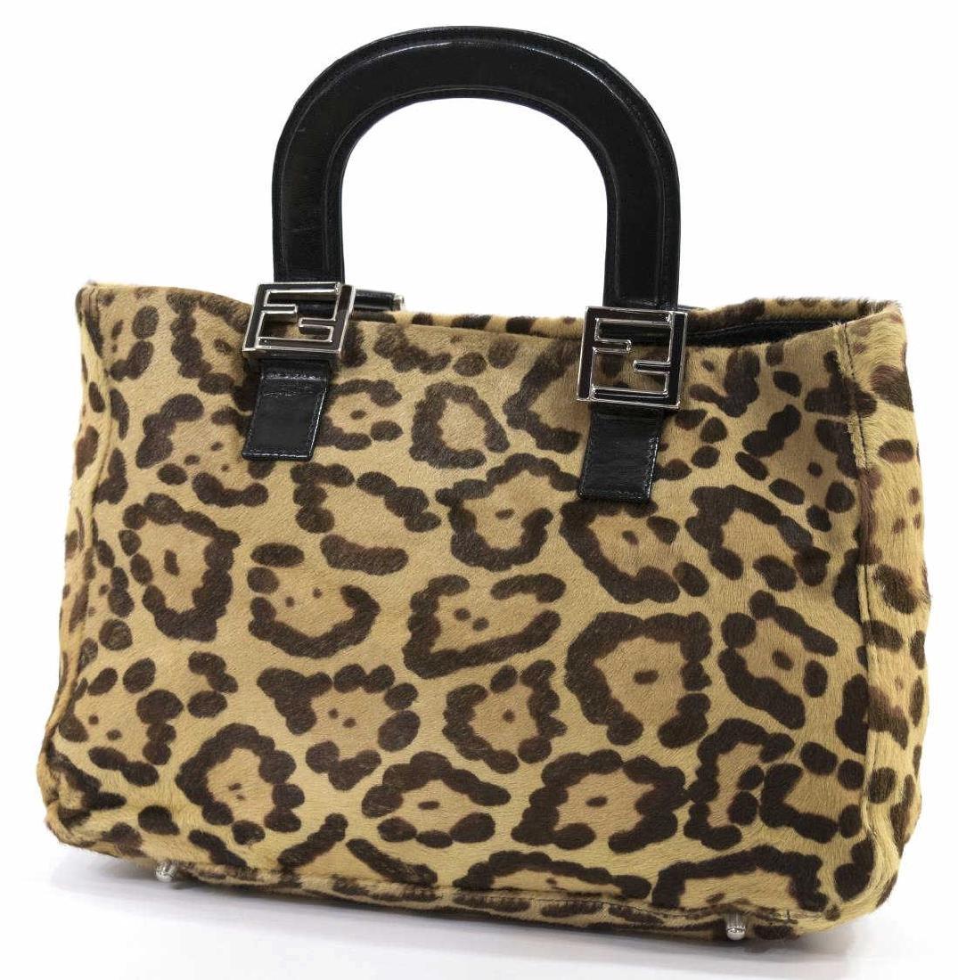 c4df6a5fcb1e ... sale 1 881de 98fbb coupon code fendi leopard print pony hair tote  handbag 7bfd8 a0393 ebay ...