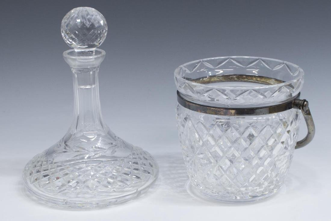 (2) WATERFORD CRYSTAL SHIPS DECANTER & ICE BUCKET