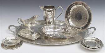 (11) COLLECTION OF SILVERPLATE HOLLOWWARE ARTICLES