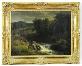 "Oil On Canvas Signed G. Achenbach, 12' X 16', ""european"