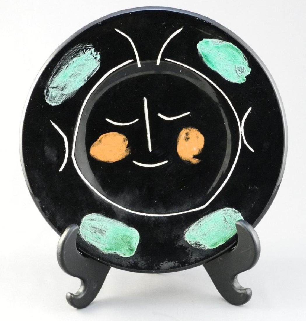 Picasso edition plate Madura from Service Visage Noir