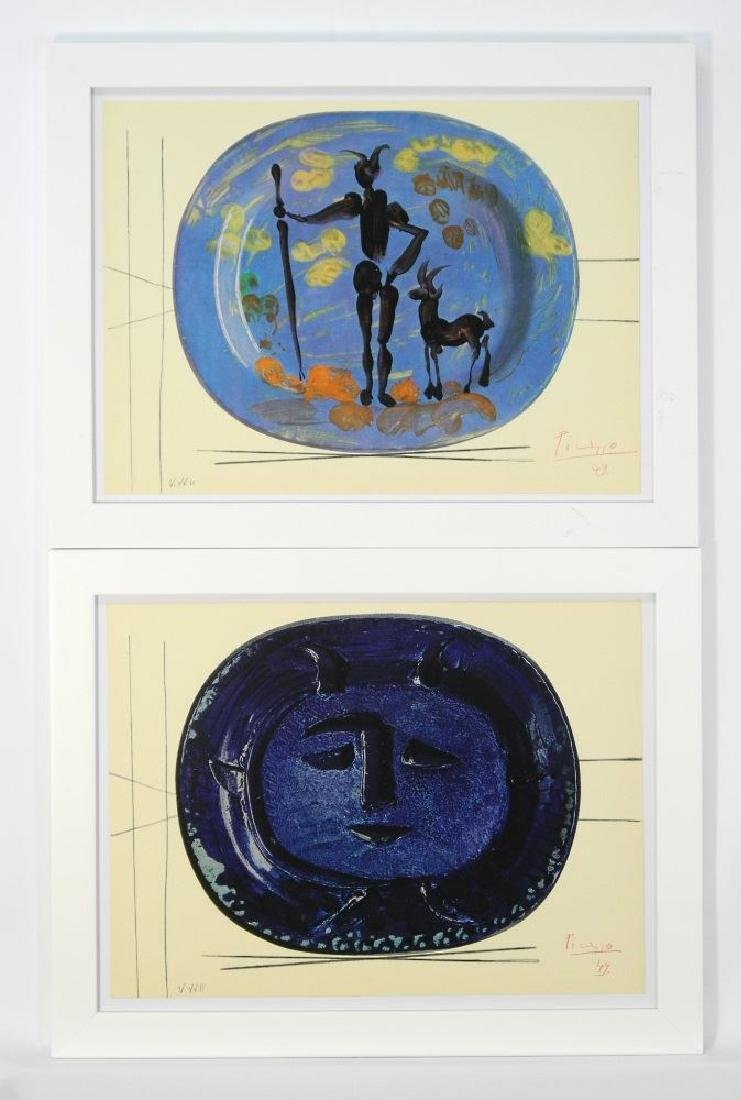 Two coloured lithographs signed Picasso dated '49