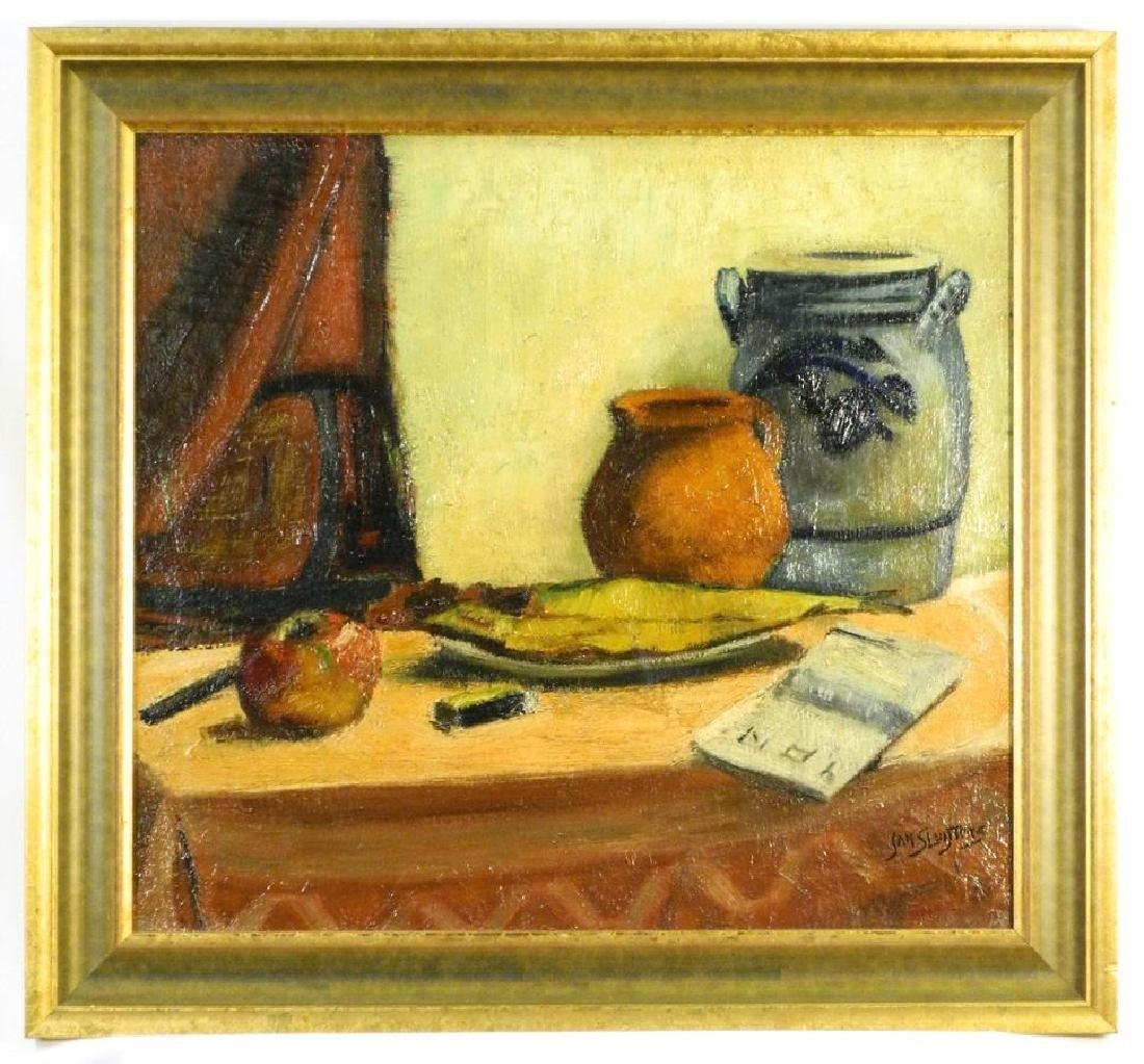 "Oil on canvas signed Jan Sluyters, 19"" x 21"", ""Still"