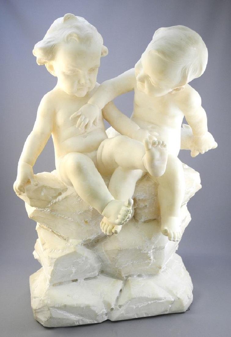 Alabaster statue signed F. Vichi, (Ferdinand),
