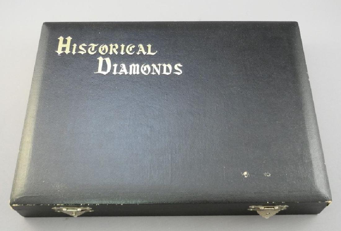 Boxed set of 15 replica Historical Diamonds c. 1910.