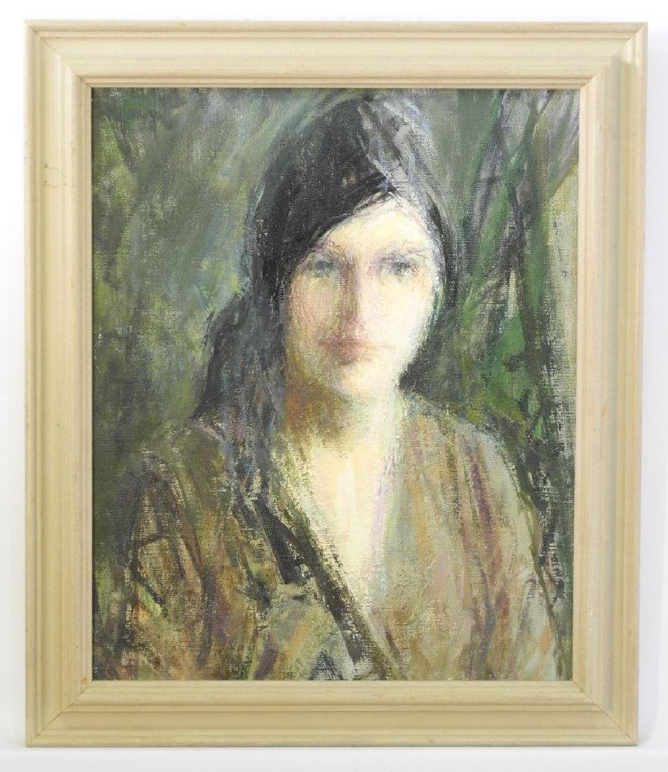 """Oil on canvas- Myfanwy Pavelic dated 1964, 17"""" x 14',"""