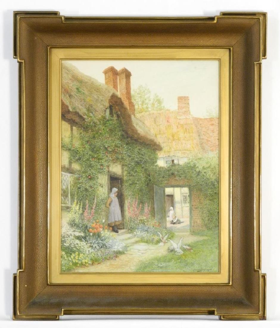 "Watercolour signed Claude Strachan c.1910, 14 1/2"" x 10"