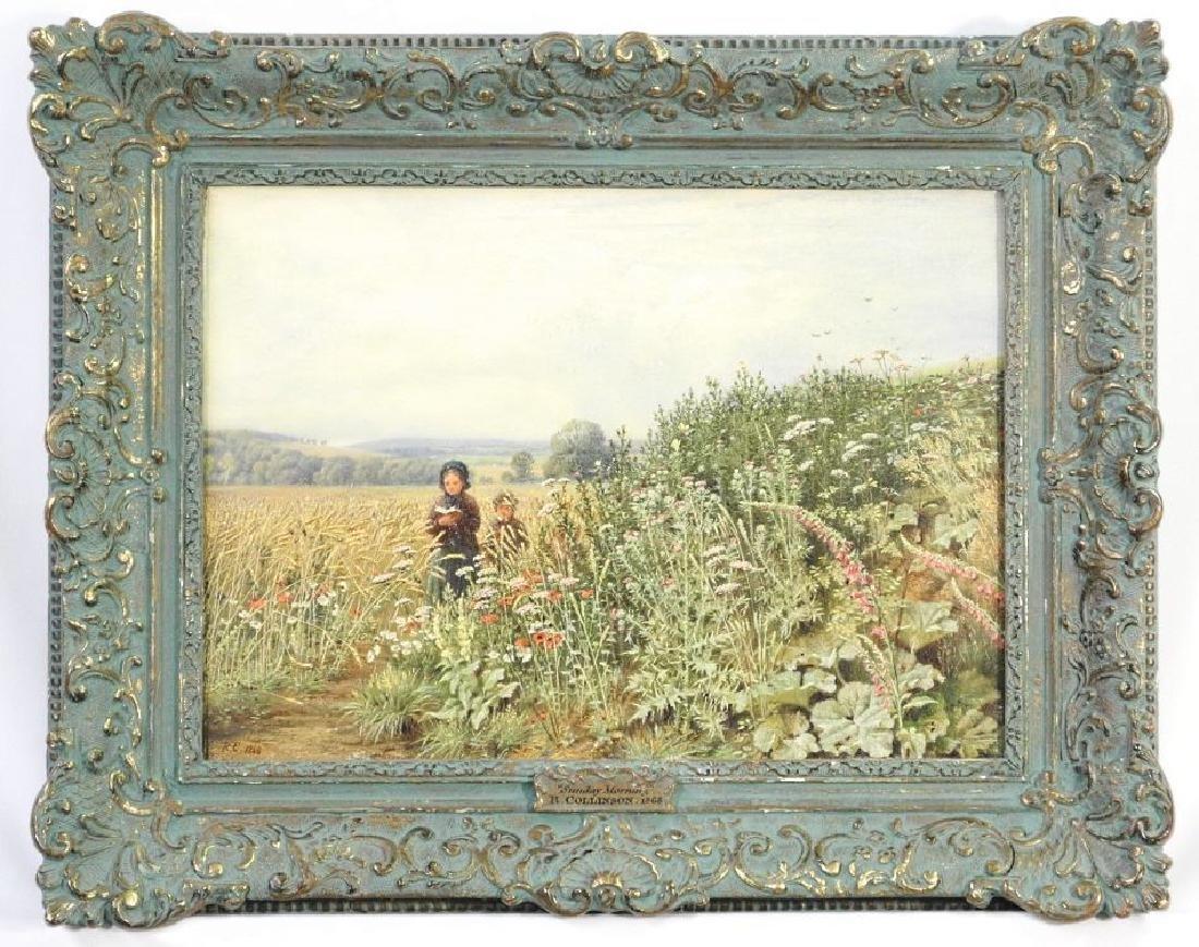 "Oil on canvas RC 1868-R. Collinson, 10 1/2""x14 1/2"","
