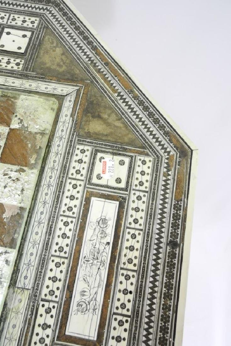 Anglo-Indian Vizagapatam inlaid games table on stand. - 5