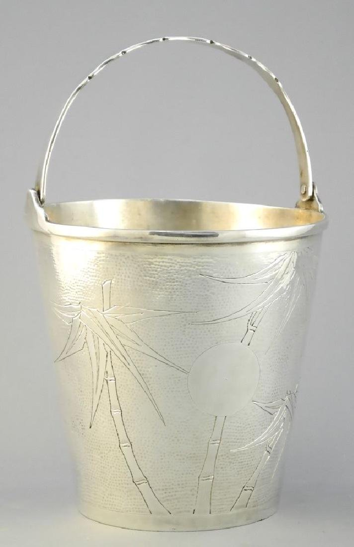 Chinese export Silver bucket stamped on bottom ZUNG,