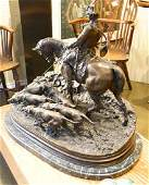 Large bronze signed PJ Mene 1869 28 wide x 25 14