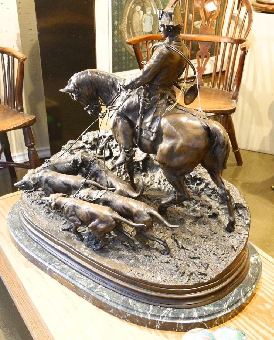 "Large bronze signed PJ Mene 1869, 28"" wide x 25 1/4"""
