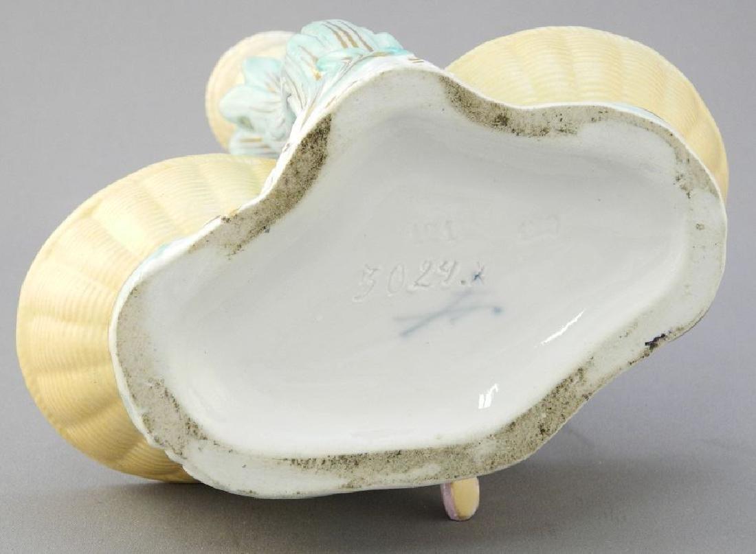 Pair of antique Meissen porcelain figured sweetmeat - 10