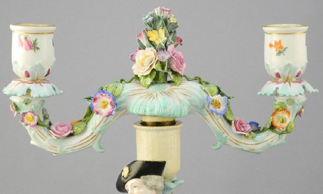 Pair of antique Meissen porcelain figured sweetmeat - 5