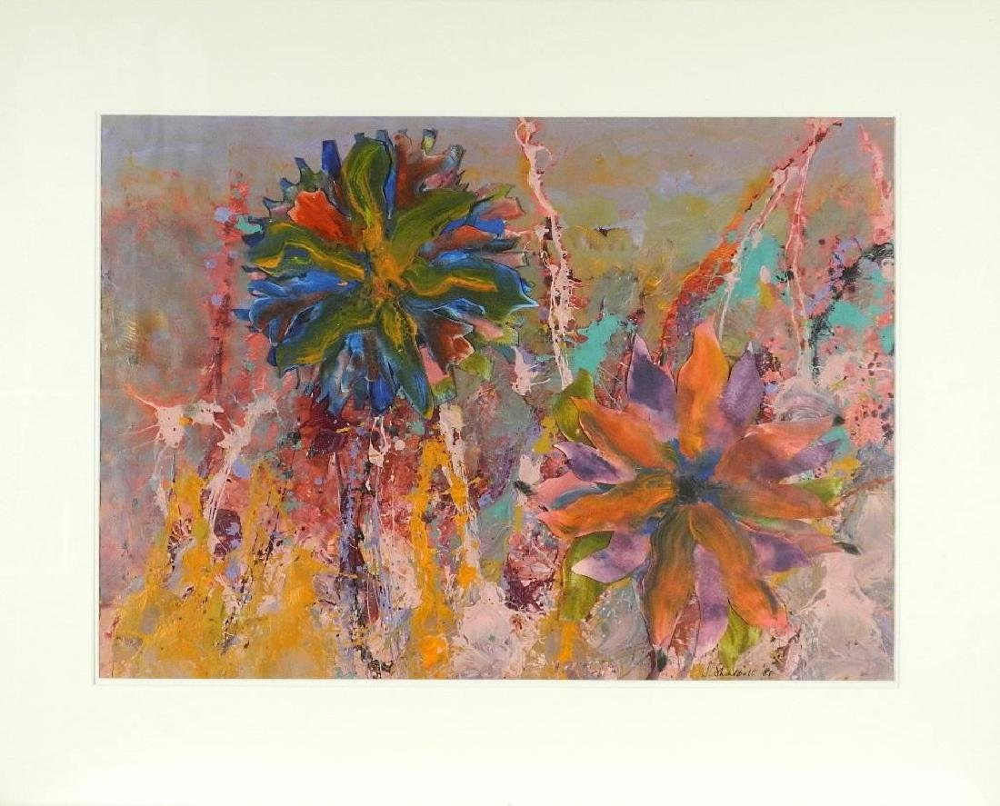 """Acrylic collage on paper signed J.Shadbolt '81, 22"""" x - 2"""